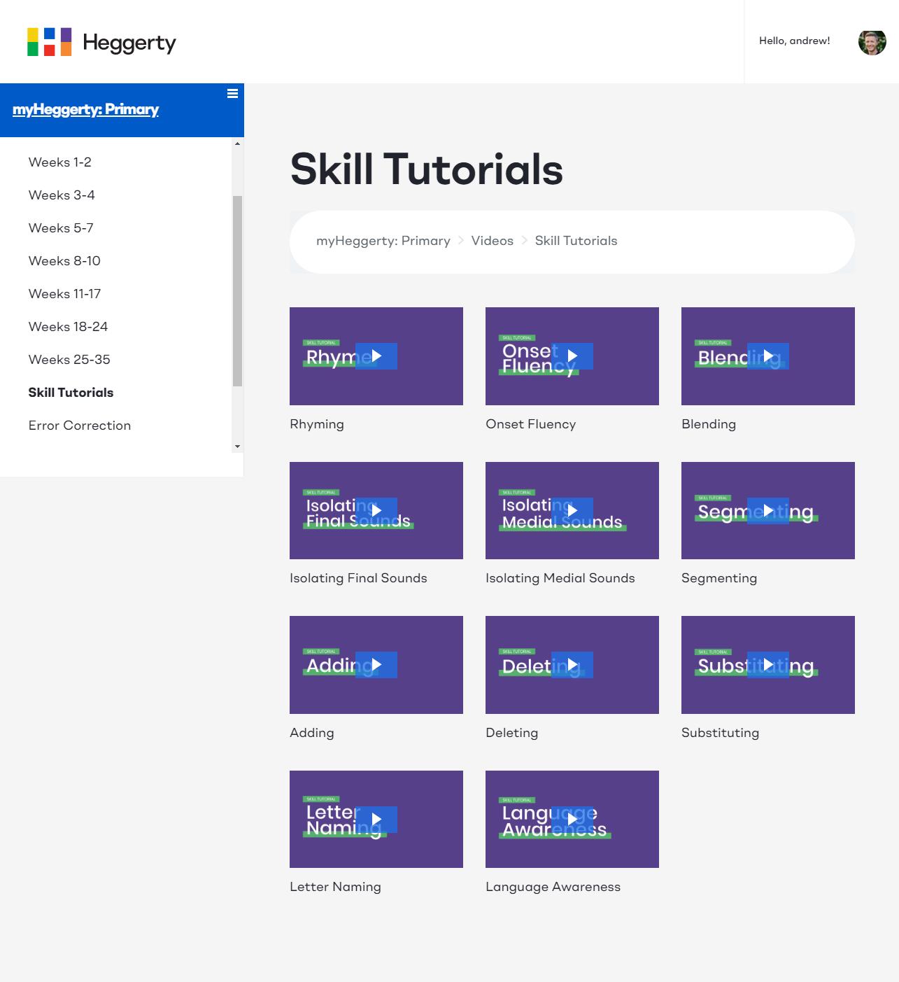 Skill Tutorials